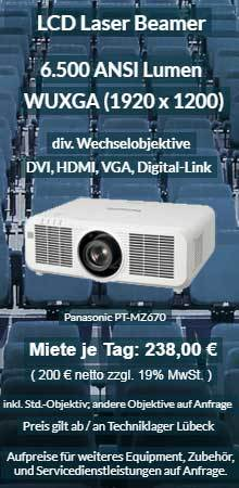 Angebot zum Projektor leihen WUXGA Laser Projektor Panasonic PT MZ670