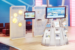 Plasma Bildschirme und LCD Monitore im Vermietungseinsatz beim VDE.