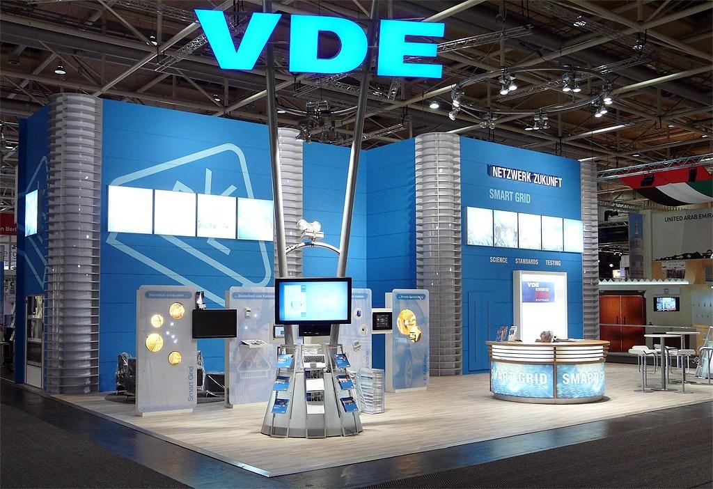 LCD Monitor Verleih an den VDE Verband und Verlag für die HMI Hannover.