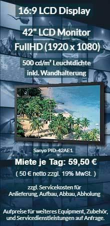 Angebot für LCD Displayvermietung 42 Zoll professioneller LCD Monitor