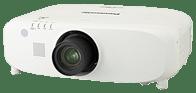 Der Panasonic PT EZ-580 WUXGA LCD Projektor kann mit Weitwinkelobjektiv, Telezoom, sowie Teleobjektiv bestückt gemietet werden.