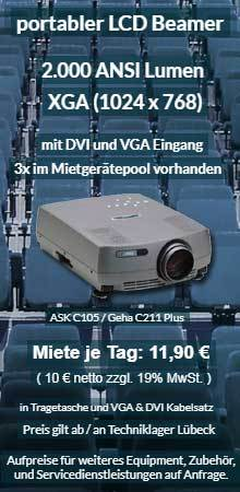 Angebot XGA Projektor ab 10 € mieten